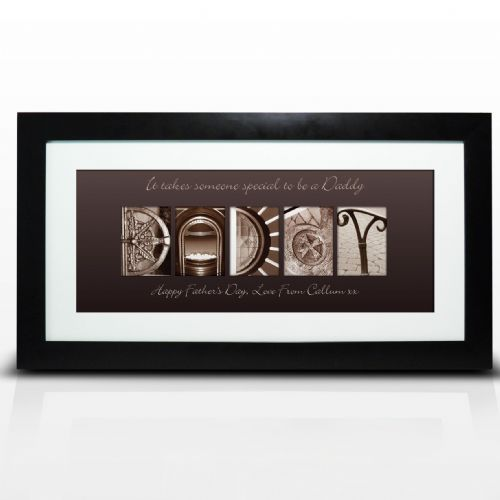 Personalised Affection Art Daddy Large Frame